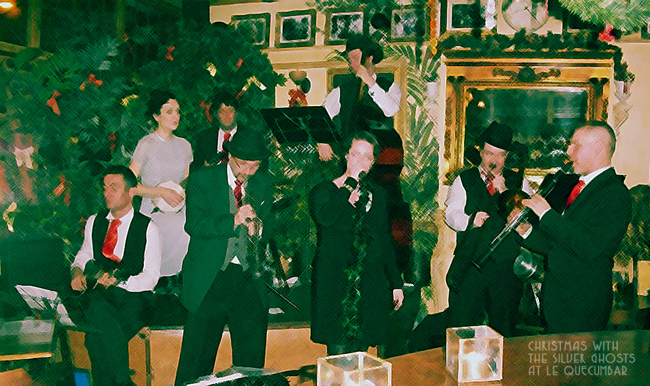 Christmas party with The Silver Ghosts swing jazz band