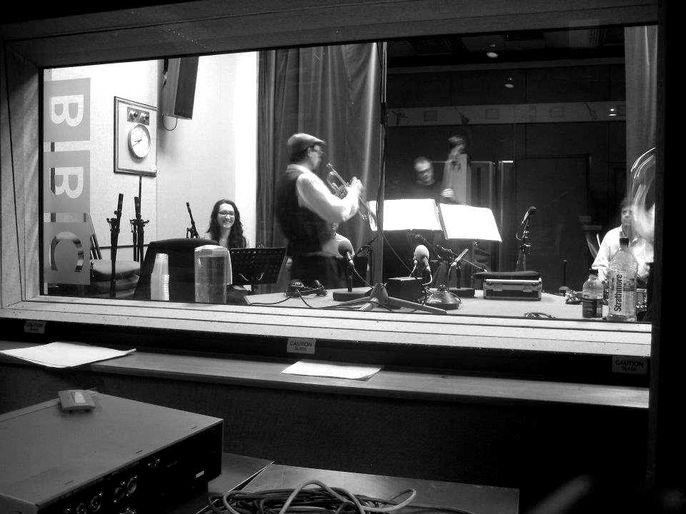 The Silver Ghosts recording at BBC Bush House in 2011